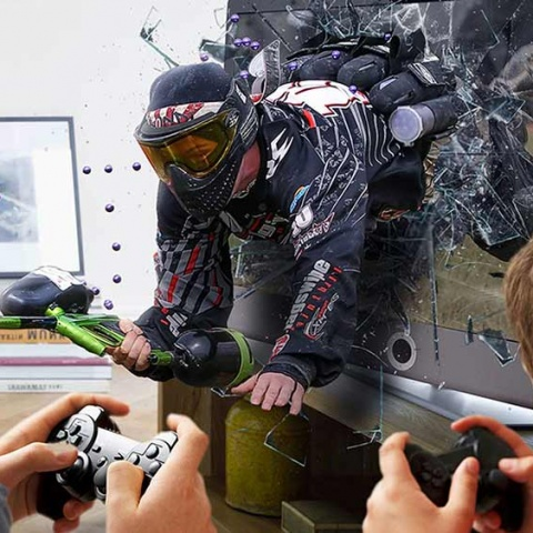 Paintball > Live action video game!
