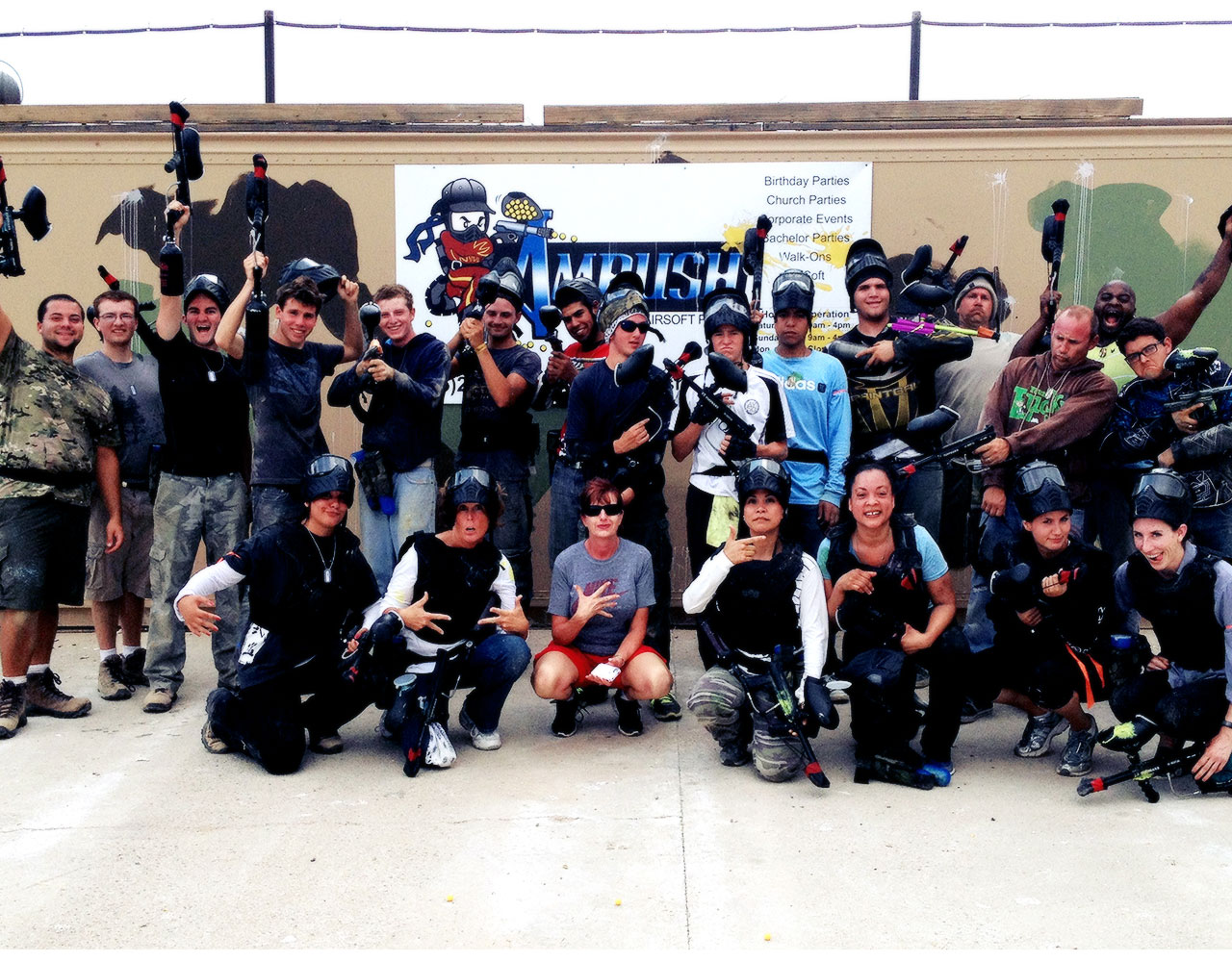group paintball party